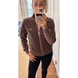 Adidas Original Velvet Vibes Biege Track Jacket